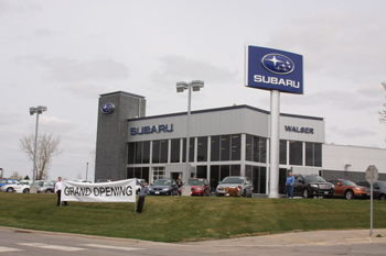 Walser Subaru In Burnsville Celebrated Their Grand Opening And Earth Week Last The Was Kicked Off With A Ribbon Cutting Ceremony On Monday